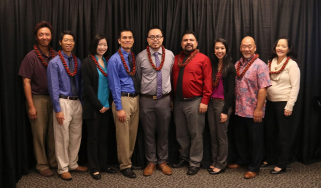 Pictured, L to R: Masaki Takai, MD; Stephen Chan, MD; Maegan Doi, MD; Li-Hsieh Chen, MD; Henry Lew, MD; Daniel Moreno, MD; Valynn Pham, MD; Mitch Motooka, MD; Cathie Ching, MD.