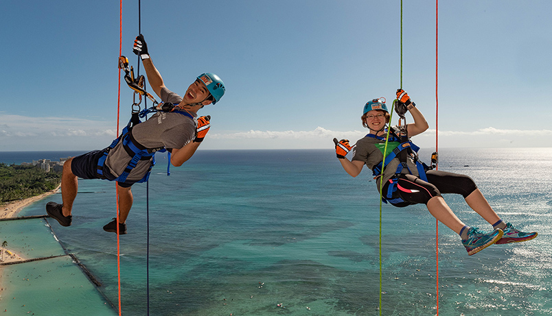 Over The Edge in Waikiki