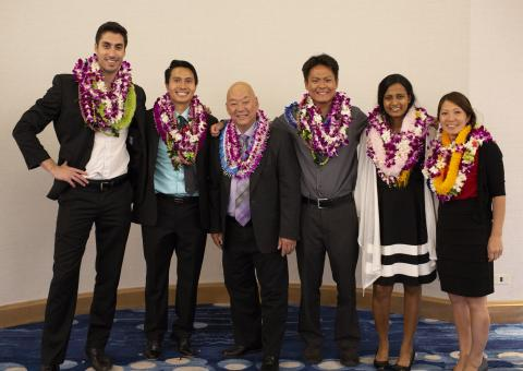 Inaugural graduation class with Dr. Motooka at the 2018 End-of-Year Banquet